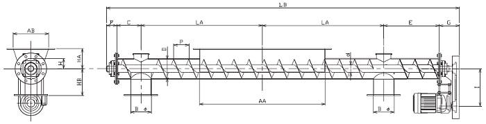BFJ 分散型-フレア形状-上下型