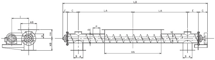 BFS 分散型-フレア形状-横型