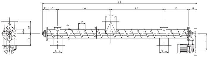 BPJ 分散型-パイプ形状-上下型