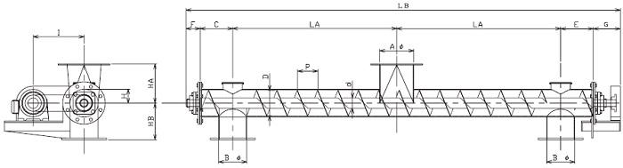 BPS 分散型-パイプ形状-横型
