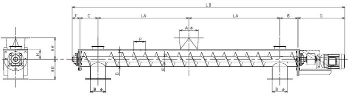 BUD 分散型-U字形状-直結型