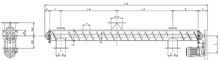 BUJ 分散型-U字形状-上下型