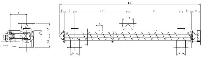BUS 分散型-U字形状-横型