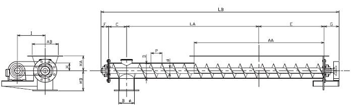 HFD 水平型-フレア形状-直結型