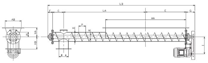 HFJ 水平型-フレア形状-上下型