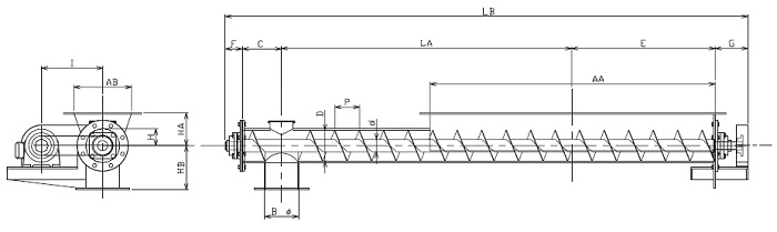 HFS 水平型-フレア形状-横型