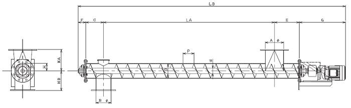 HPD 水平型-パイプ形状-直結型