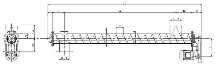 HPJ 水平型-パイプ形状-上下型
