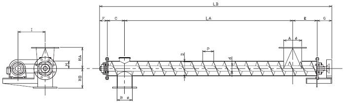 HPS 水平型-パイプ形状-横型