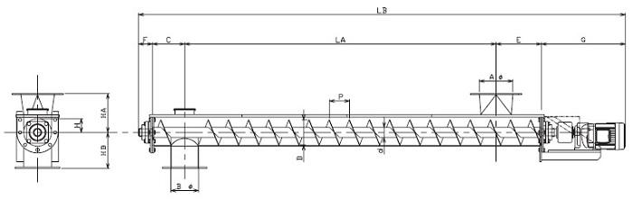 HUD 水平型-U 字形状-直結型