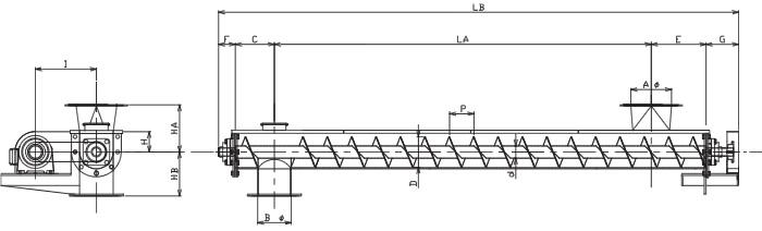 HUS 水平型-U字形状-横型