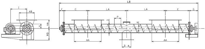 IFS 集約型-フレア形状-横型