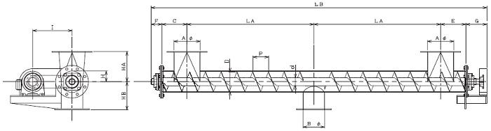 IPS 集約型-パイプ形状-横型